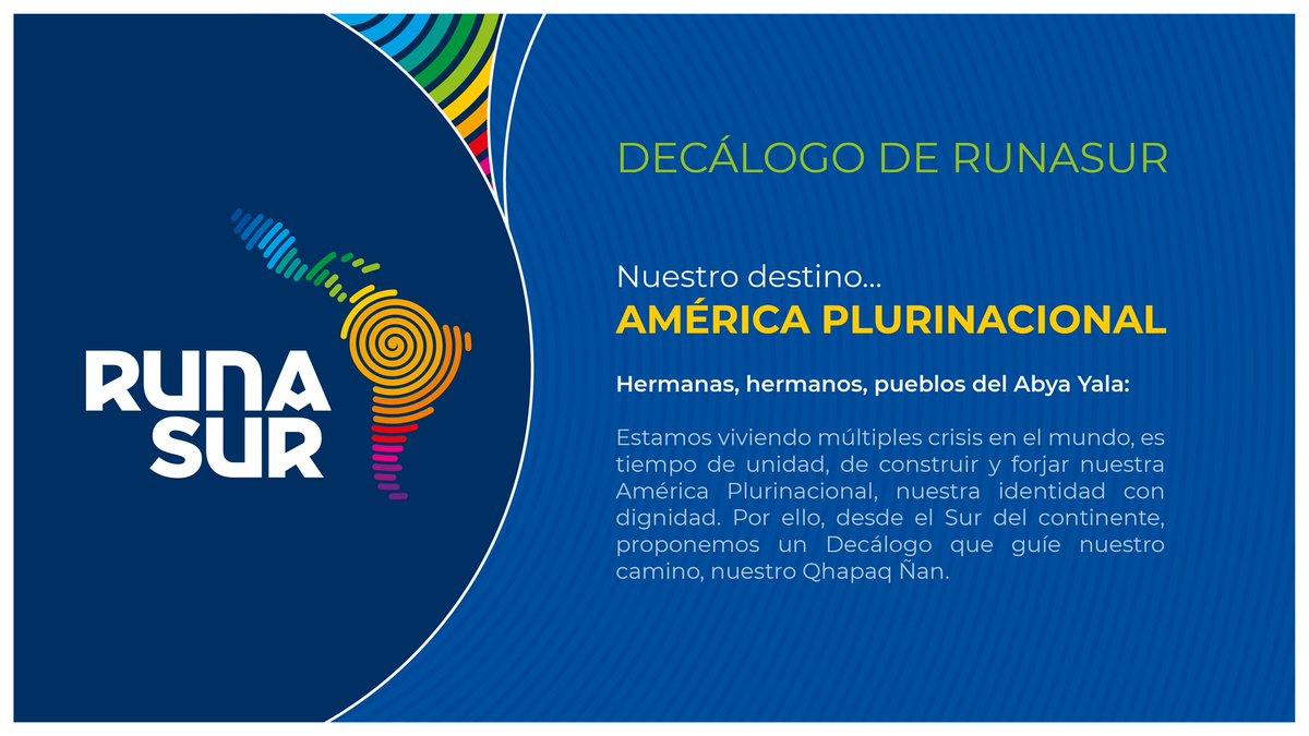 Difundimos desde hoy el Décalogo de Runasur, mecanismo de integración plurinacio… – deRedes.tv